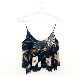 Style House Floral Lace Layered Tank